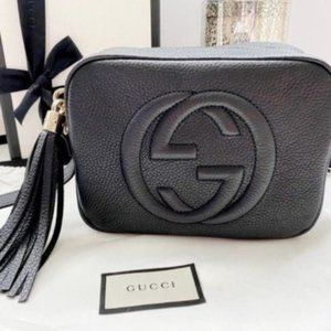 Gucci GG Logo SoHo Patent Leather bag